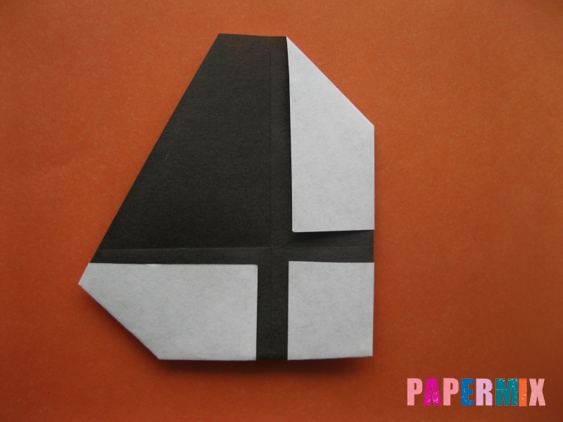 Как сделать цифру 4 из бумаги (оригами) своими руками - шаг 5