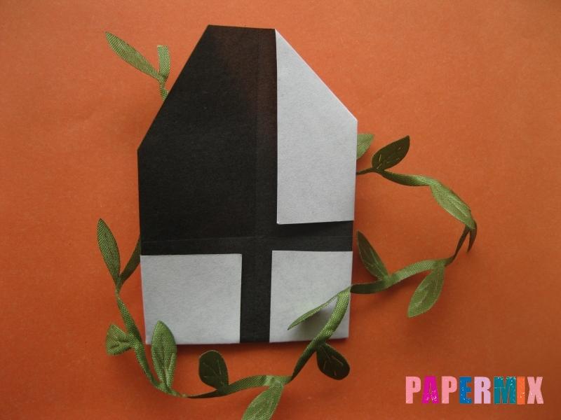 Как сделать цифру 4 из бумаги (оригами) своими руками - шаг 7