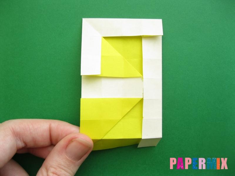 Как сделать цифру 9 из бумаги (оригами) своими руками - шаг 13