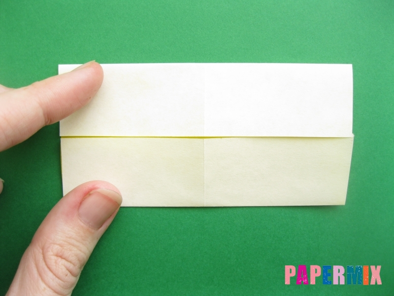 Как сделать цифру 9 из бумаги (оригами) своими руками - шаг 2