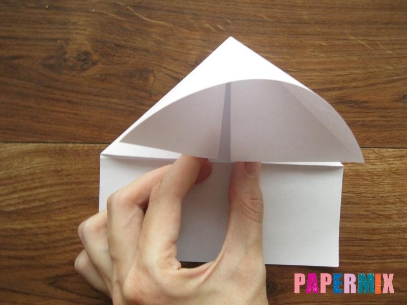 Как сделать кепку с козырьком из бумаги своими руками - шаг 9