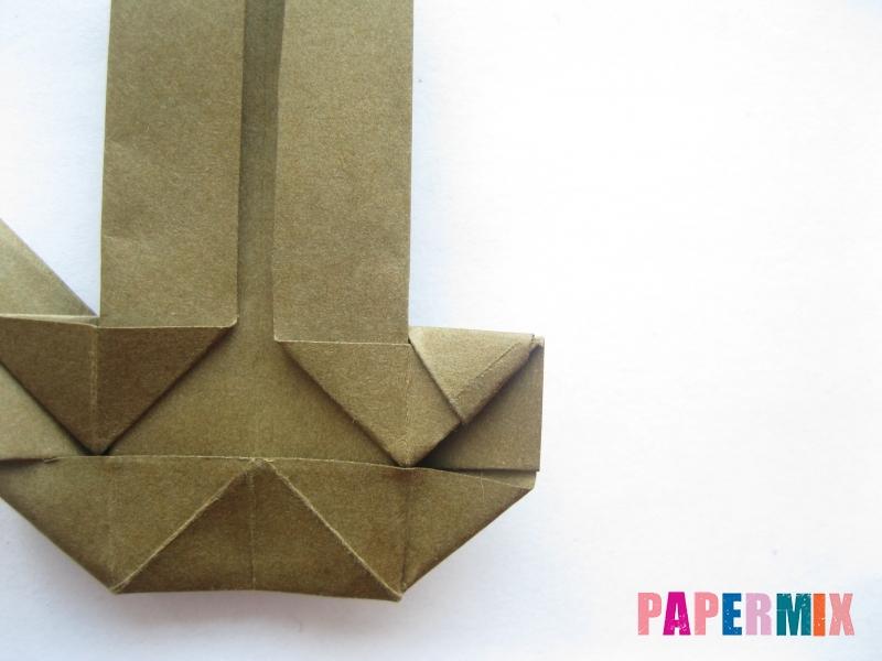 Как сделать стул из бумаги (оригами) поэтапно - шаг 19