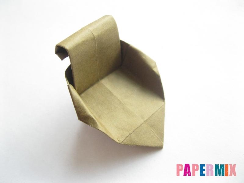 Как сделать стул из бумаги (оригами) поэтапно - шаг 29