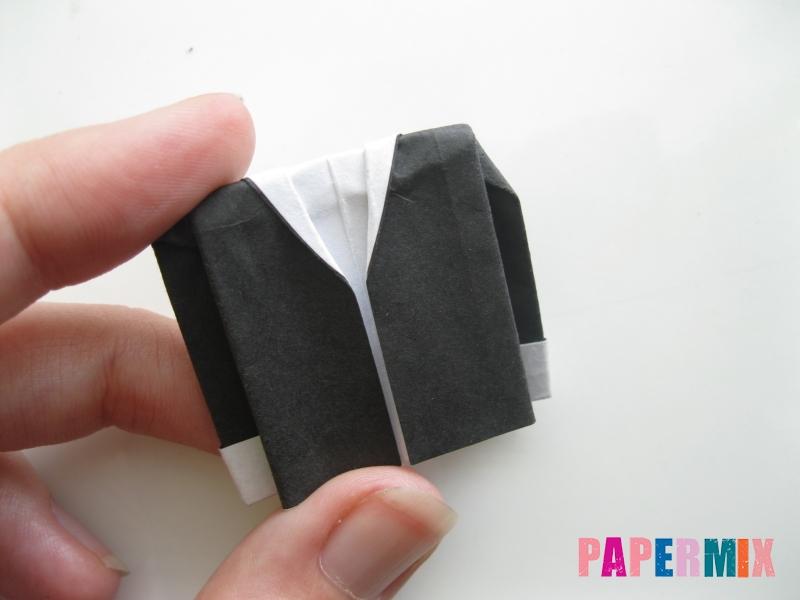 Как сделать мужской костюм из бумаги (оригами) - шаг 11
