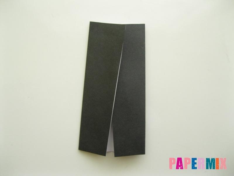 Как сделать мужской костюм из бумаги (оригами) - шаг 13