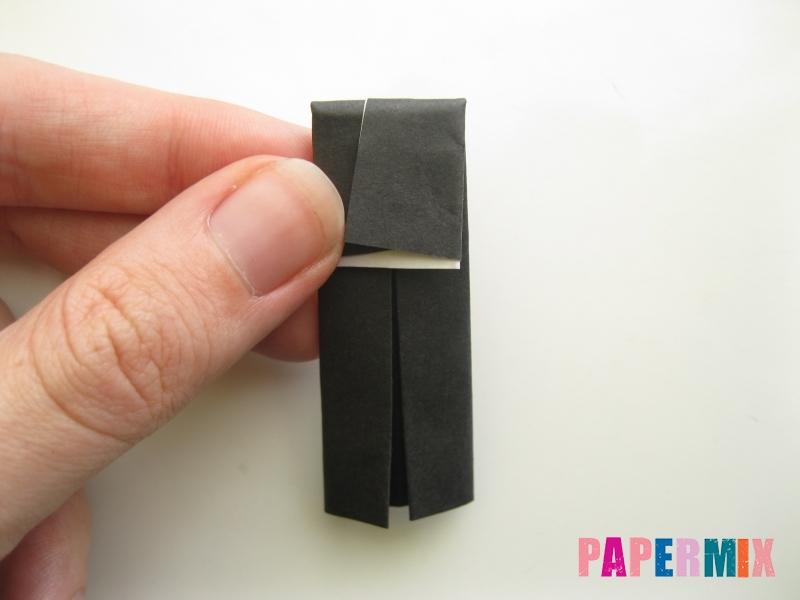 Как сделать мужской костюм из бумаги (оригами) - шаг 15