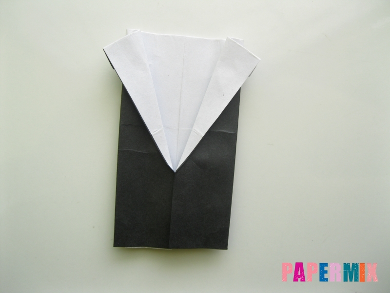 Как сделать мужской костюм из бумаги (оригами) - шаг 7