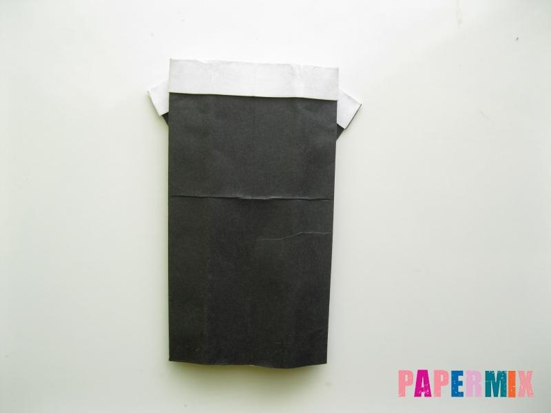 Как сделать мужской костюм из бумаги (оригами) - шаг 8