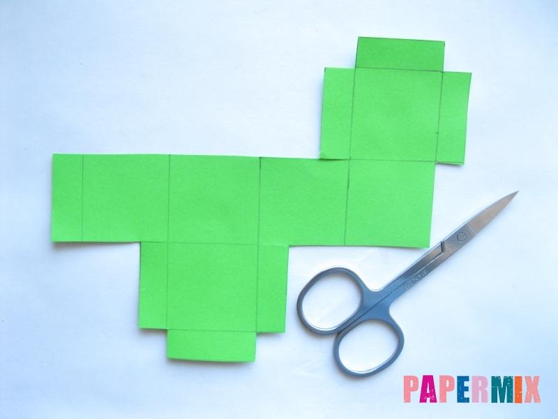 Как сделать объемный квадрат из бумаги поэтапно - шаг 2