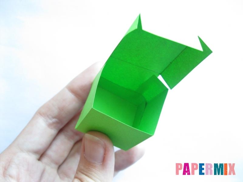 Как сделать объемный квадрат из бумаги поэтапно - шаг 4