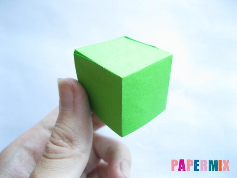 Как сделать объемный квадрат из бумаги поэтапно - шаг 6
