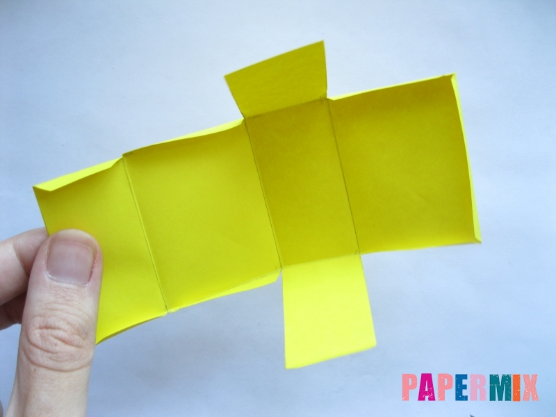 Как сделать параллелепипед из бумаги схема - шаг 3