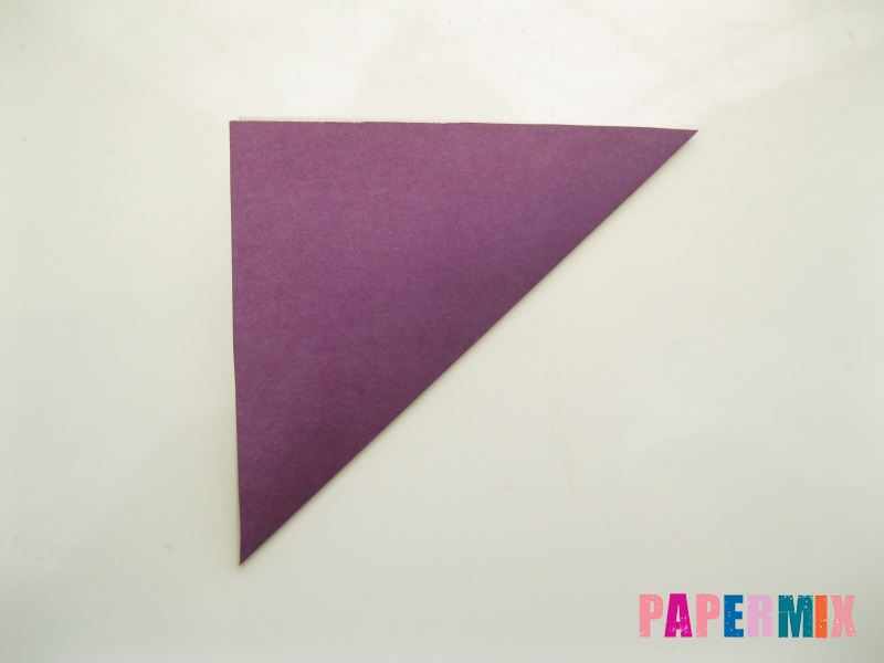 Как сделать платье из бумаги (оригами) своими руками - шаг 1