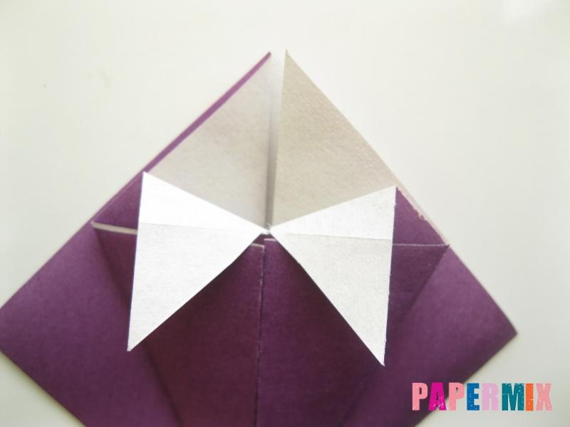 Как сделать платье из бумаги (оригами) своими руками - шаг 11
