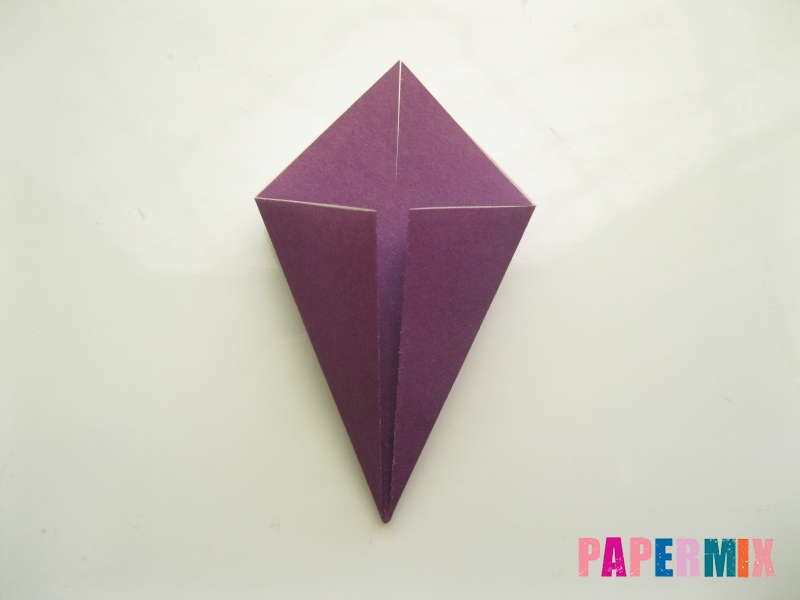 Как сделать платье из бумаги (оригами) своими руками - шаг 14