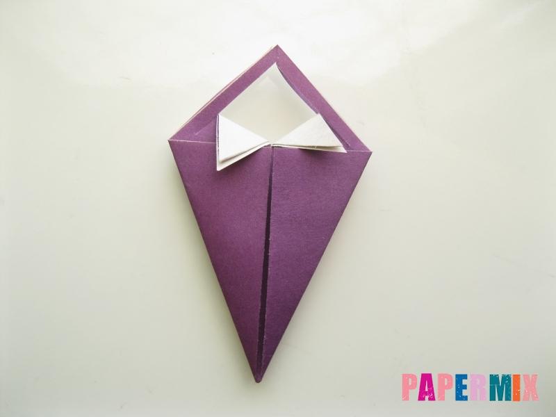 Как сделать платье из бумаги (оригами) своими руками - шаг 16
