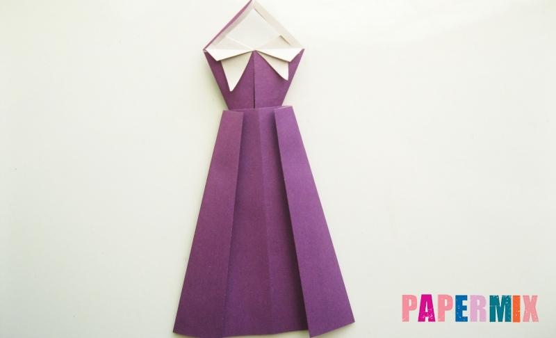 Как сделать элегантное платье из бумаги в технике оригами своими руками