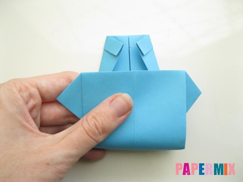 Как сделать рубашка с галстуком из бумаги (оригами) - шаг 18