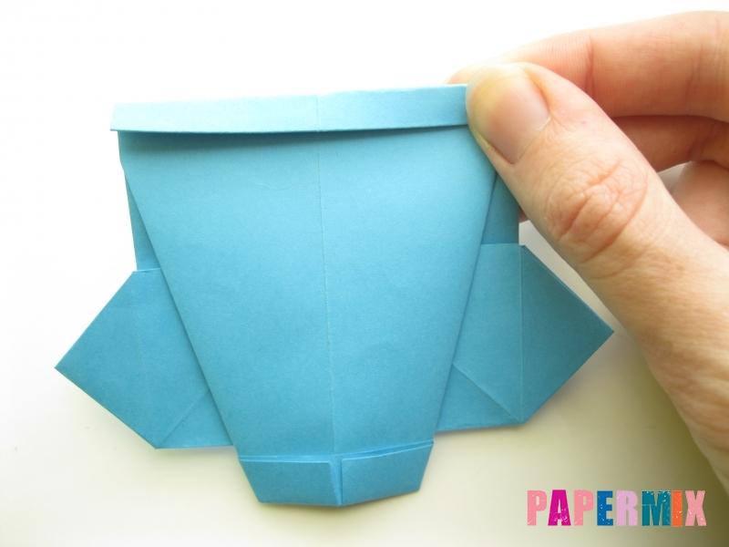 Как сделать рубашка с галстуком из бумаги (оригами) - шаг 20