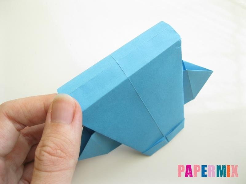 Как сделать рубашка с галстуком из бумаги (оригами) - шаг 21