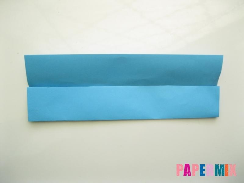 Как сделать рубашка с галстуком из бумаги (оригами) - шаг 3