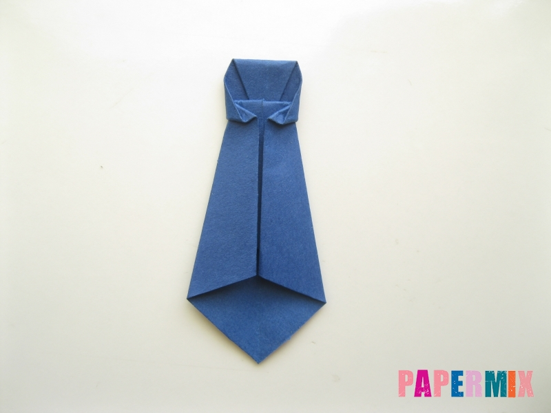 Как сделать рубашка с галстуком из бумаги (оригами) - шаг 30