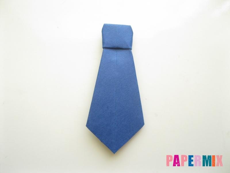 Как сделать рубашка с галстуком из бумаги (оригами) - шаг 31