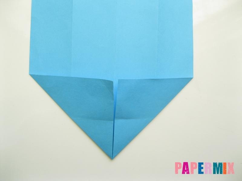 Как сделать рубашка с галстуком из бумаги (оригами) - шаг 6
