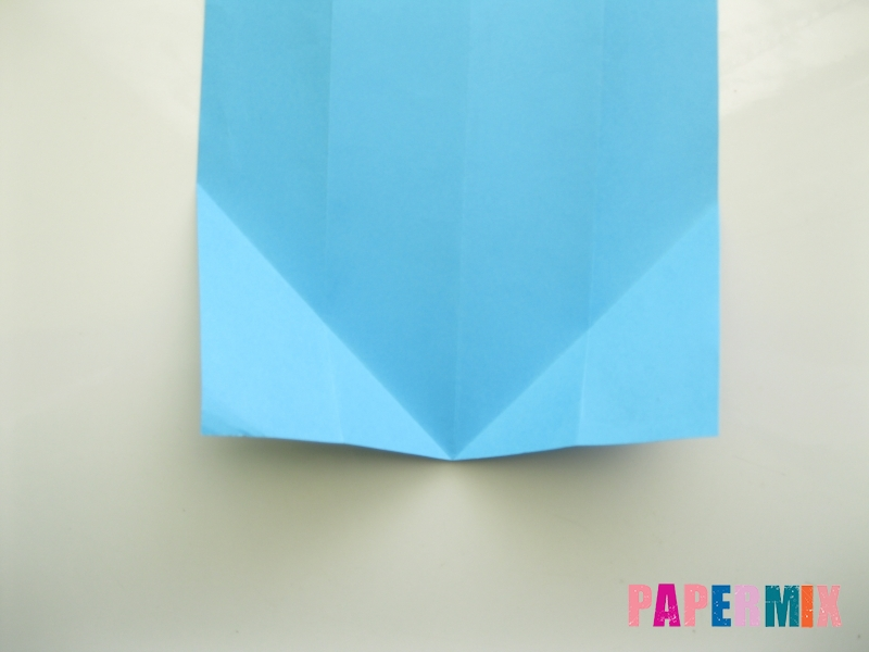 Как сделать рубашка с галстуком из бумаги (оригами) - шаг 7