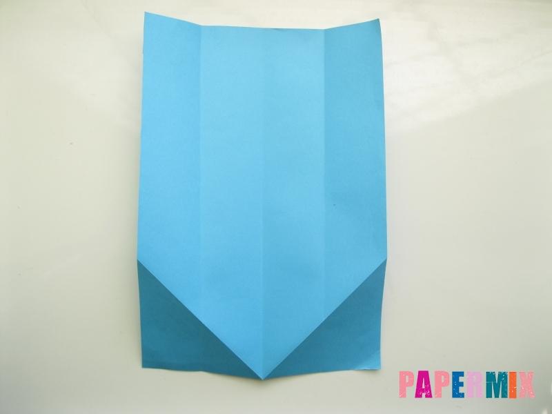 Как сделать рубашка с галстуком из бумаги (оригами) - шаг 8