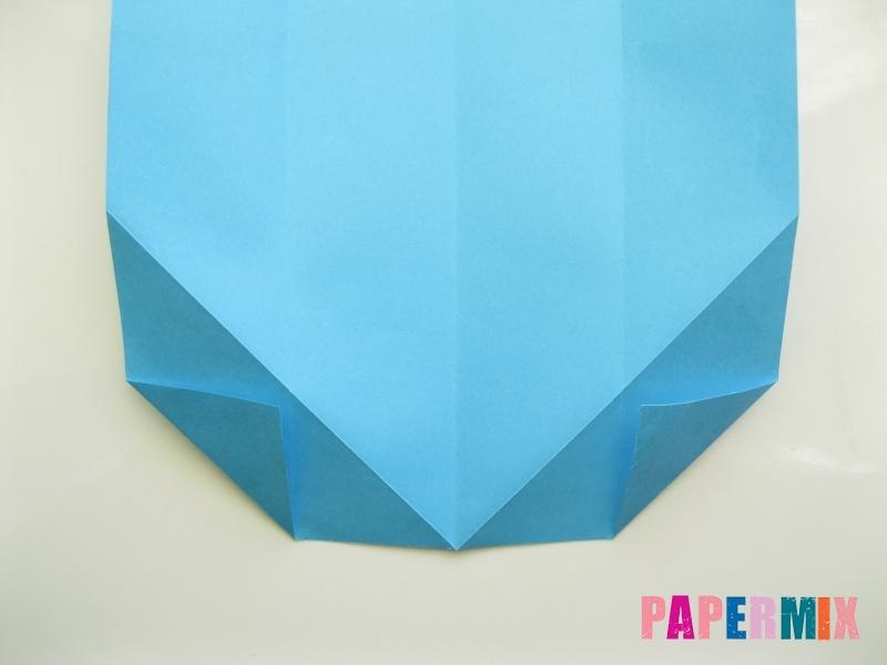 Как сделать рубашка с галстуком из бумаги (оригами) - шаг 9