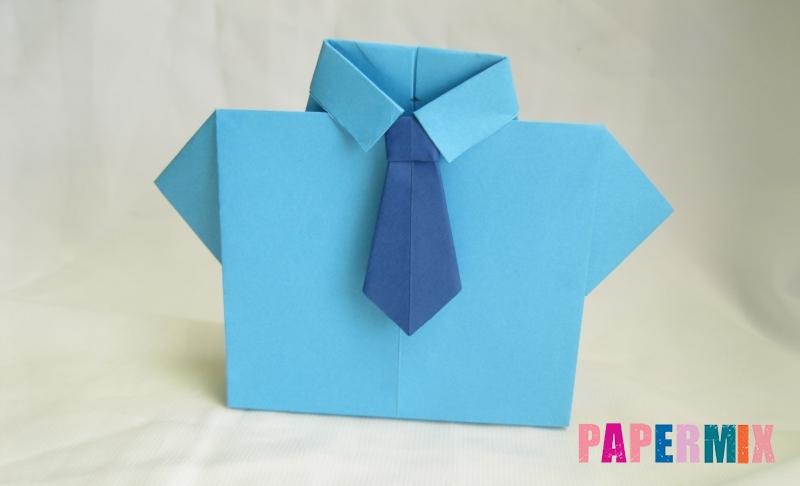Как сделать рубашка с галстуком из бумаги в технике оригами своими руками