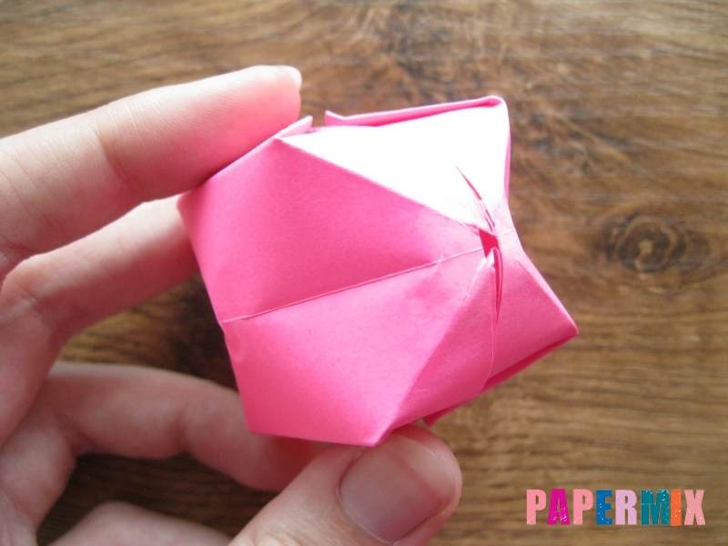 Как сделать шар из бумаги (оригами) своими руками - шаг 16