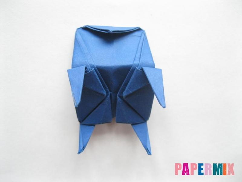 Как сделать стул из бумаги (оригами) поэтапно - шаг 28