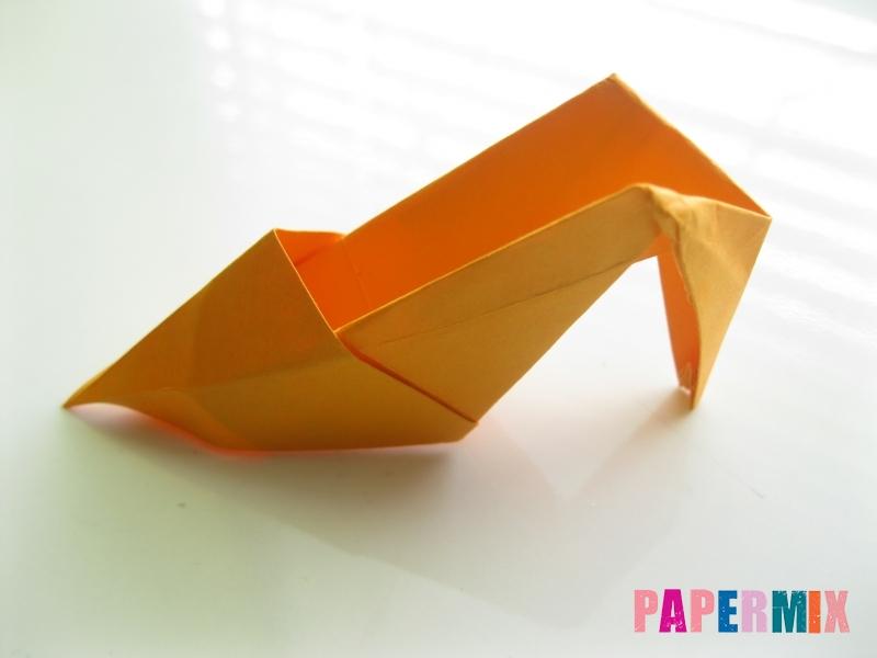 Как сделать туфли из бумаги (оригами) своими руками - шаг 26