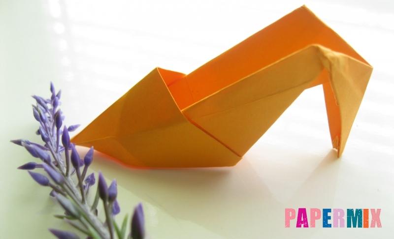 Как сделать туфли из бумаги в технике оригами своими руками