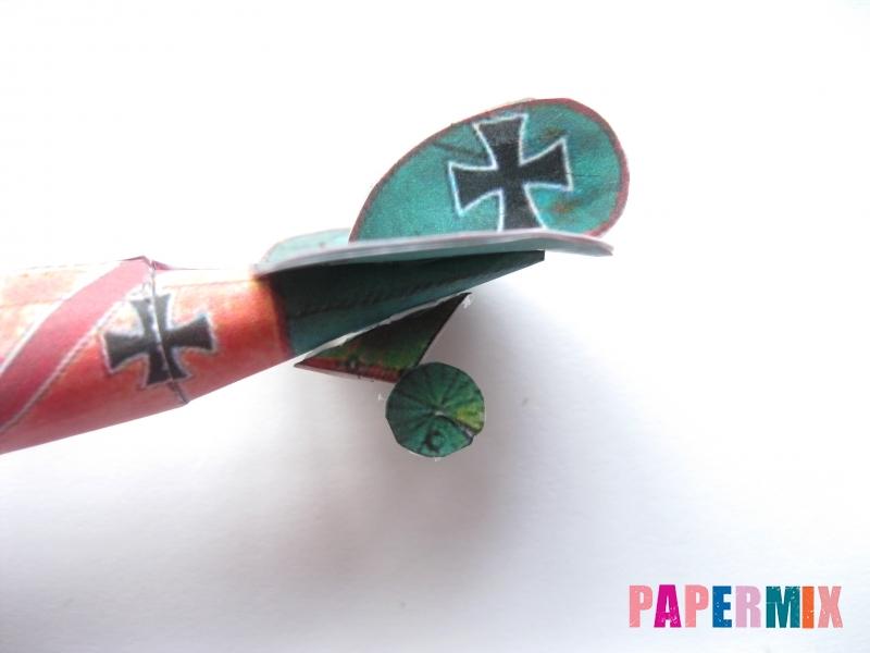 Как сделать самолет Albatros D.V по шаблону из бумаги своими руками - шаг 10