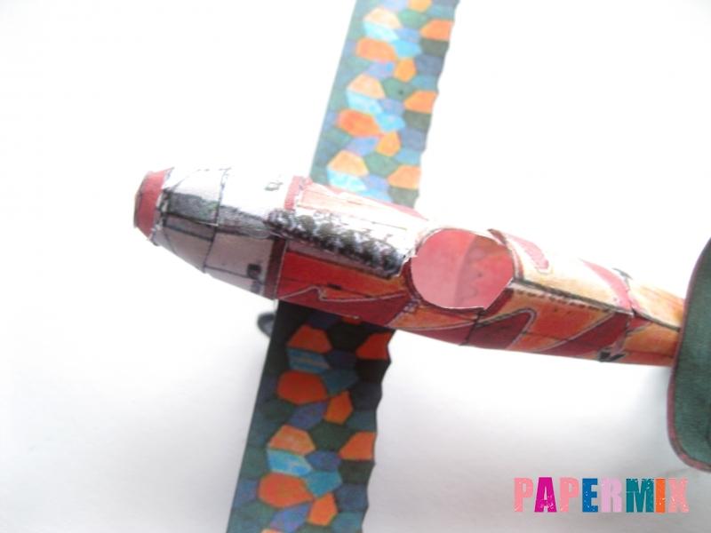 Как сделать самолет Albatros D.V по шаблону из бумаги своими руками - шаг 14