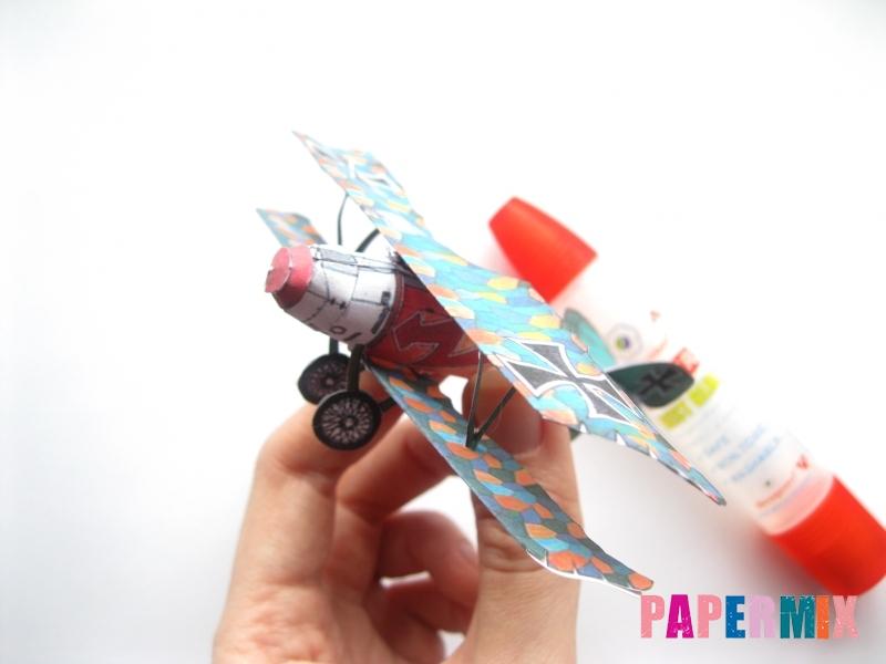 Как сделать самолет Albatros D.V по шаблону из бумаги своими руками - шаг 15
