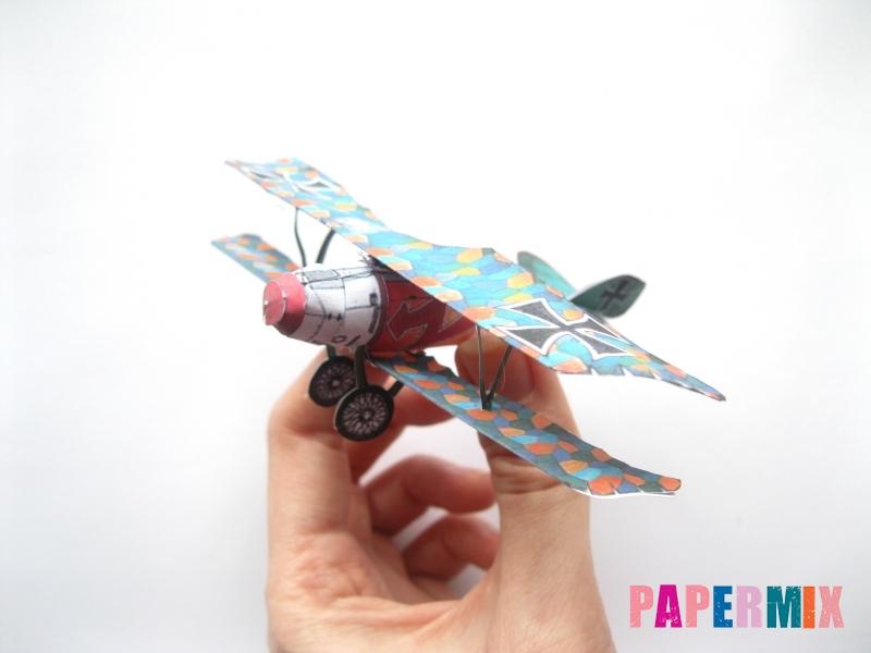 Как сделать самолет Albatros D.V по шаблону из бумаги своими руками - шаг 16