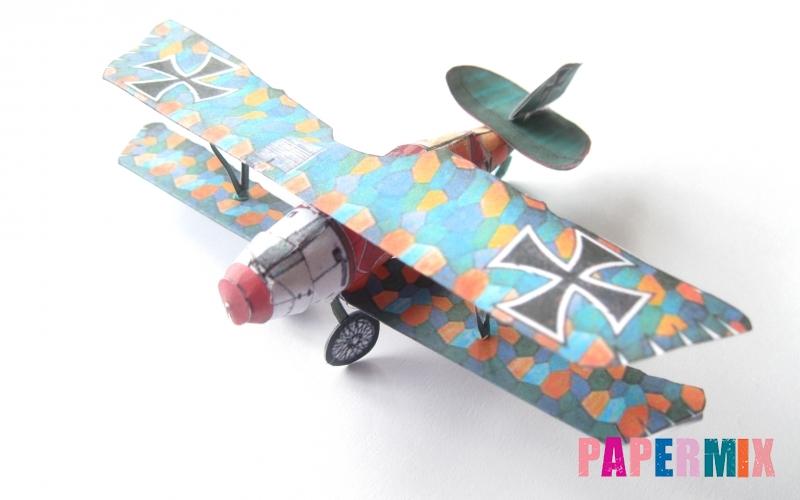 Как сделать объемный самолет Albatros D.V по шаблону из бумаги своими руками