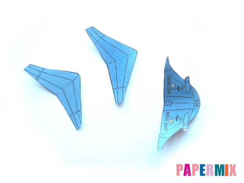 Как сделать самолет Бритиш Аэроспейс «Си Харриер» по шаблону - шаг 4