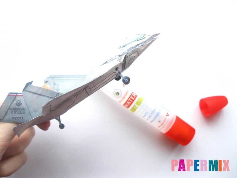 Как сделать самолет F-22 Lightning II из бумаги своими руками - шаг 6