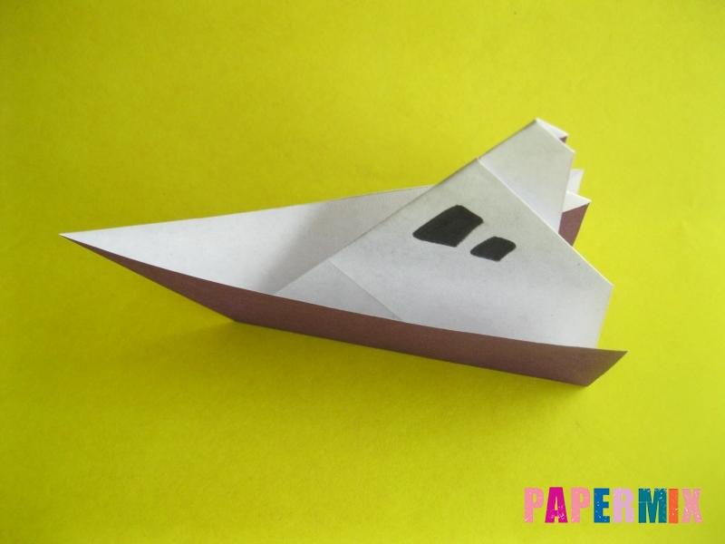 Как сделать корабль из бумаги (оригами) своими руками - шаг 11
