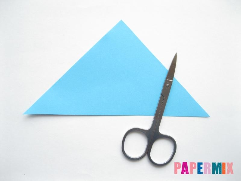 Как сделать парусник из бумаги (оригами) поэтапно - шаг 2