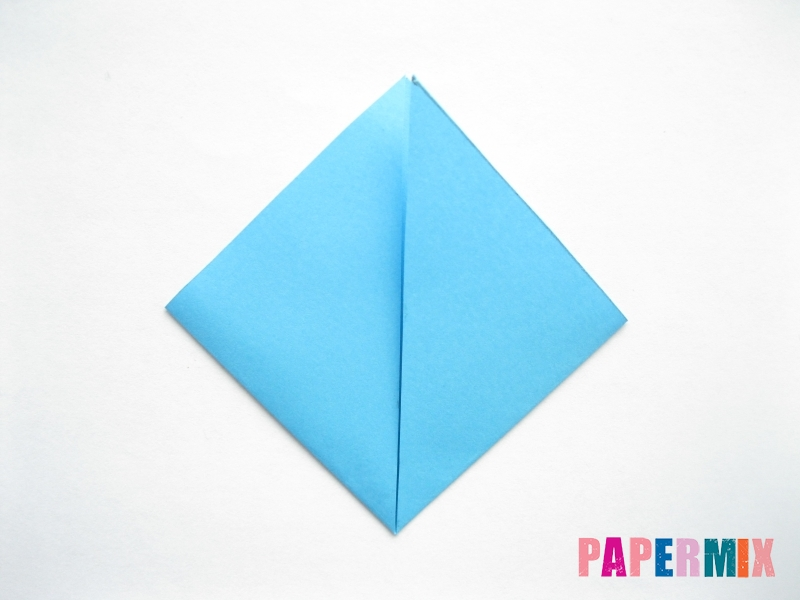 Как сделать парусник из бумаги (оригами) поэтапно - шаг 4