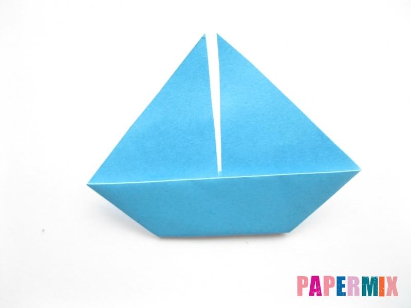 Как сделать парусник из бумаги (оригами) поэтапно - шаг 9