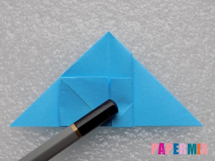 Как сделать ракету из бумаги поэтапно - шаг 13