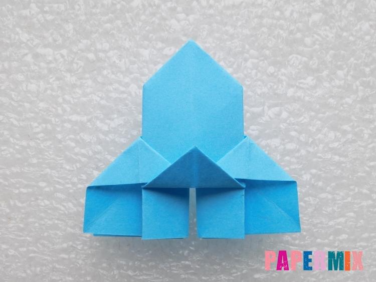 Как сделать ракету из бумаги поэтапно - шаг 20