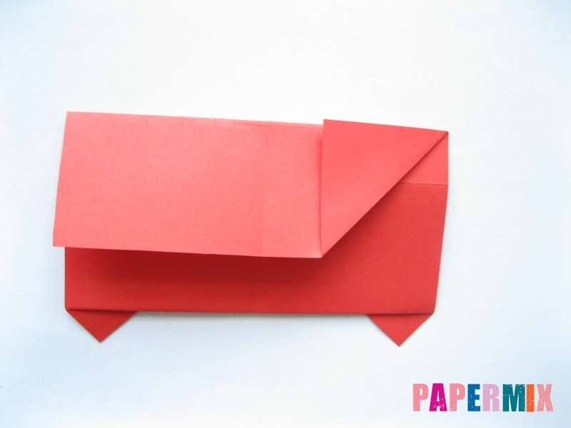 Как сделать самосвал из бумаги (оригами) своими руками - шаг 8
